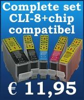 Complete inktset vervangt de CLI-8 / PGI 5.