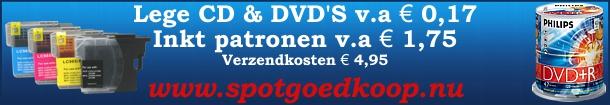 De goedkoopste inkt en opneembare dvds