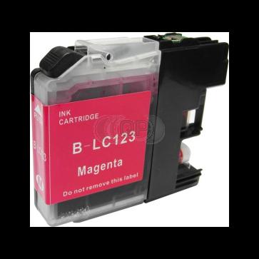 Brother LC-123M inktcartridge magenta + chip (huismerk)