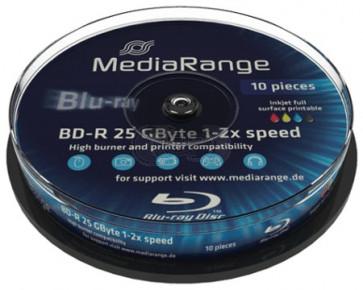 Blu-ray Disc 6X 25Gb recordable Mediarange 10 stuks wit inktjet printable