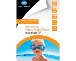 Inktjet fotopapier 10*15 cm 260g/m² glossy Konica 210 vel