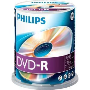 DVD-R 4.7GB 16X Philips 100 stuks