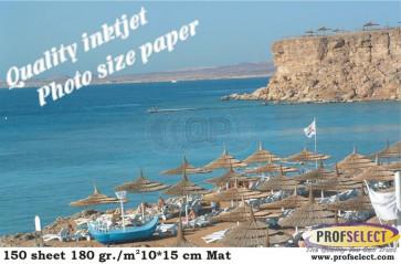Inktjet fotopapier 10*15 cm 240g/m² mat Profselect 100 vel