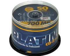 CD-R 52X Platinum 50 stuks