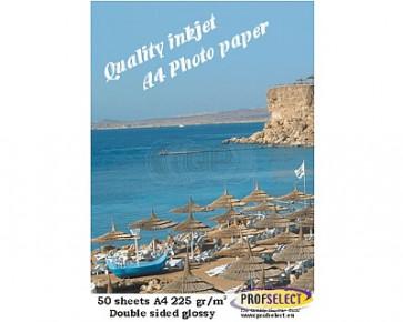 Inktjet fotopapier A4 220g/m² Profselect 50 vel 1 kant glossy 1 kant semi glossy