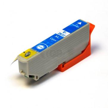 Epson 26XL (T2632) inktcartridge cyaan hoge capaciteit  + chip (huismerk)