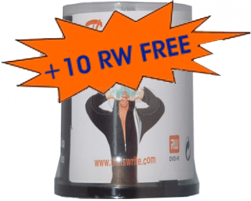 DVD+R 4.7GB 16X Thats write 100 + 10 DVD+RW gratis