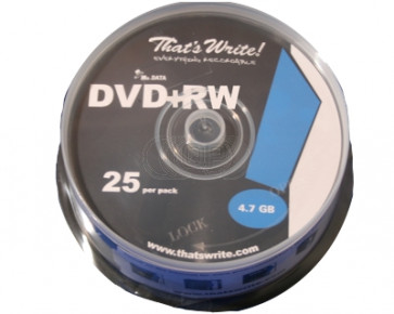 DVD+RW 4.7GB 4X Thats Write 25 stuks