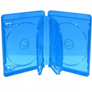 Blu-ray Disc doos voor 6 discs (22mm) blauw 5 stuks