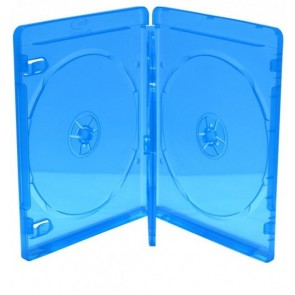 Blu-ray Disc doos voor 3 discs  (14mm)  blauw 5 stuks