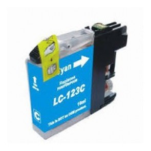 Brother LC-123C inktcartridge cyaan + chip (huismerk)