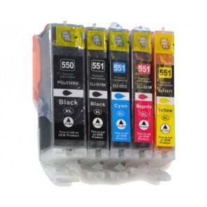 Canon CLI-551 / PGI-550 voordeelset + chip (huismerk)
