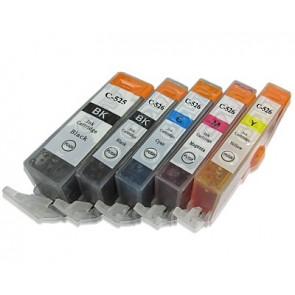 Canon CLI-526 / PGI-525  voordeelset + chip (huismerk)