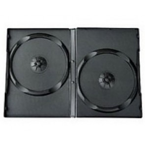 DVD doos 14mm 2 dvds zwart 49 stuks