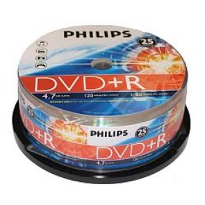 DVD+R 4.7GB 16X Philips 25 stuks