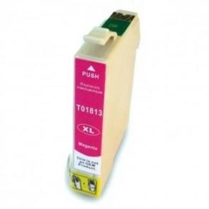 Epson 18XL (T1813) inktcartridge magenta hoge capaciteit + chip (huismerk)