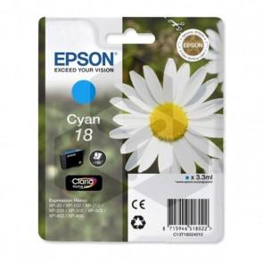 Epson 18 (T1802) inktcartridge cyaan (origineel)
