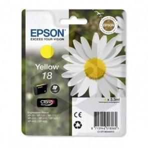 Epson 18 (T1804) inktcartridge geel (origineel)
