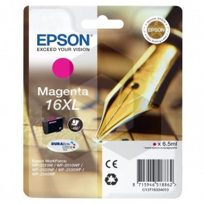 Epson 16XL (T1633) inktcartridge magenta hoge capaciteit (origineel)