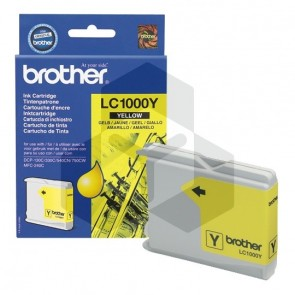 Brother LC-1000Y inktcartridge geel (origineel)