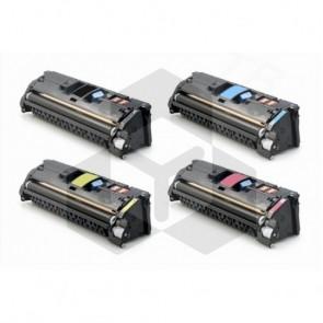HP 121A HP C9700A, 01A, 02A, 03A zwart + 3 kleuren (huismerk)