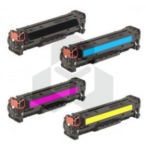 HP 131X / 131A HP CF210X, 211A, 212A, 213A zwart + 3 kleuren (huismerk)