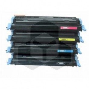 HP 124A HP Q6000A, 01A, 02A, 03A zwart + 3 kleuren (huismerk)