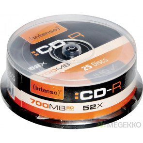 CD-R 80min 52X Intenso 25 stuks