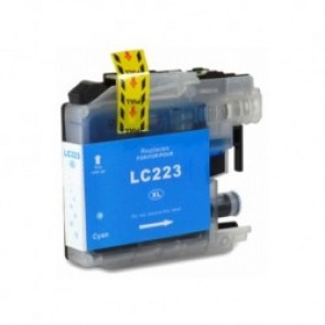 Brother LC-223C inktcartridge cyaan + chip (huismerk)
