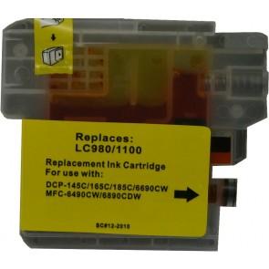 Brother LC-980 /  LC-1100Y inktcartridge geel (huismerk)
