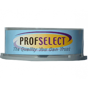 DVD+R 4.7GB 16X Profselect 25 stuks full wit inktjet printable
