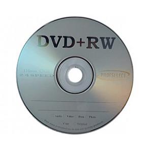 DVD+RW 4.7GB 2.4X Profselect 25 stuks