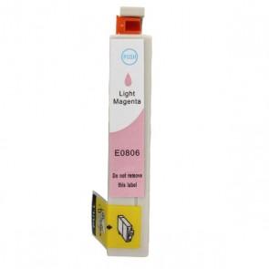 Epson T0806 inktcartridge licht magenta + chip (huismerk)