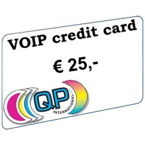 Voip beltegoed € 25,- (excl. btw)