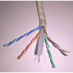 Netwerk UTP cat 6 kabel massive harde kern (prijs per meter)